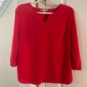Red Banana Republic holiday blouse size small